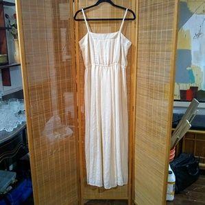 FV21 Powder Peach Sheer Maxi Dress